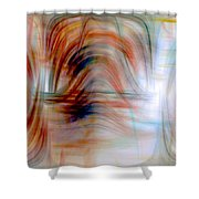 Painted Windows Shower Curtain