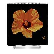 Painter Hibiscus Shower Curtain