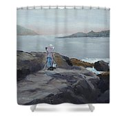 Painter Of The Sea - Art By Bill Tomsa Shower Curtain