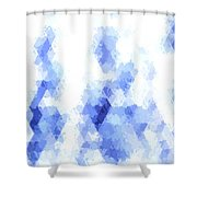 Painterly Geometric Abstract Shower Curtain