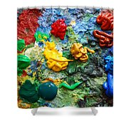 Painters Palette Shower Curtain