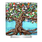 Painters Palette Of Tree Colors Shower Curtain