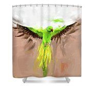 Painting 661 1 Bird 8 Shower Curtain