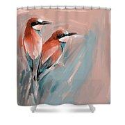 Painting 662 2 Bird 9 Shower Curtain