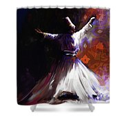 Painting 716 2 Sufi Whirl 2 Shower Curtain