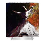 Painting 716 3 Sufi Whirl 2 Shower Curtain