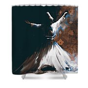 Painting 716 4 Sufi Whirl 2 Shower Curtain