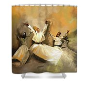 Painting 717 1 Sufi Whirl 3 Shower Curtain