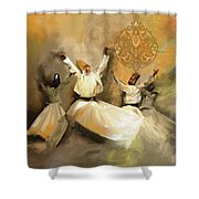 Painting 717 2 Sufi Whirl 3 Shower Curtain