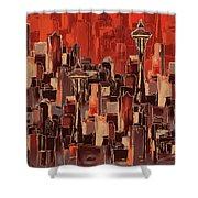 Painting 773 1 Seattle Skyline Shower Curtain