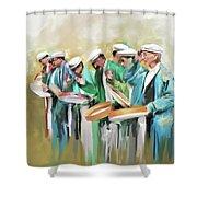 Painting 800 1 Hunzai Musicians Shower Curtain