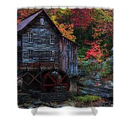 Painting Babcock State Park Glades Creek Grist Mill West Virginia Shower Curtain