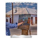 Painting Barrio Viejo Shower Curtain