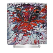 Painting Breathing Salamander In Abstract Style Shower Curtain