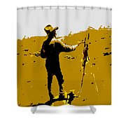 Painting Cowboy Shower Curtain