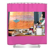 Painting Day Shower Curtain