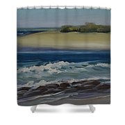 Painting Happy Valley Caloundra Qld Plein Air Painting Shower Curtain