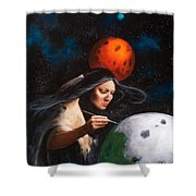 Painting Moons Shower Curtain