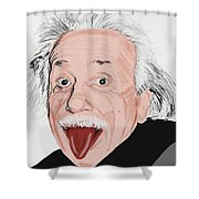 Painting Of Albert Einstein Shower Curtain by Setsiri Silapasuwanchai