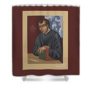 Painting Of Fr Balthasar Gracian Sj 180 Shower Curtain
