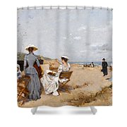 Painting On The Beach  Shower Curtain