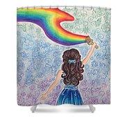 Painting Rainbow Shower Curtain