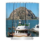 Painting The Trudy S Morro Bay Shower Curtain