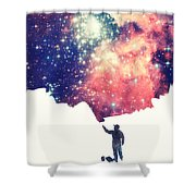Painting The Universe Awsome Space Art Design Shower Curtain