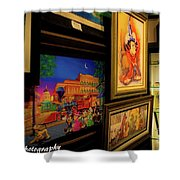 Paintings Collage Shower Curtain