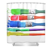 Paints And Brushes  Shower Curtain