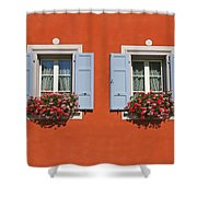 Pair Of Blue Shutters Shower Curtain