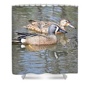 Pair Of Blue Wings Shower Curtain