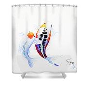 Pair Of Koi Shower Curtain