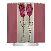 Pair Of Pinks Shower Curtain