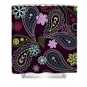 Paisley Abstract Design Shower Curtain