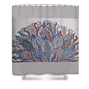 Paisley Fan Shower Curtain