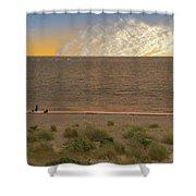 Pakefield Beach Sunset Shower Curtain