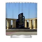 Pakistan Air Force Martyrs Monument Honoring Dead Pakistani Airmen At Paf Museum Karachi Pakistan Shower Curtain