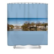 Palace In Royal Baths Park In Warsaw Shower Curtain