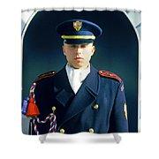 Palace Guard, Prague Shower Curtain