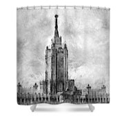 Palace Of Culture And Science Shower Curtain