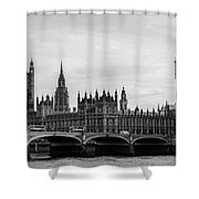 Palace Of Westminster And Elizabeth Tower Shower Curtain