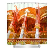Palau De La Musica Catalana Window Shower Curtain