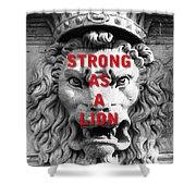 Palazzo Pitti Firenze Lion Shower Curtain
