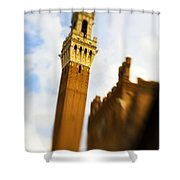 Palazzo Pubblico Tower Siena Italy Shower Curtain