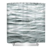 Pale Aqua Water Ripples Shower Curtain
