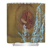 Pale Blue Chalk On Wood Shower Curtain