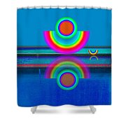 Pale Blue Reflections Shower Curtain