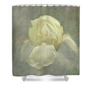 Pale Misty Iris Shower Curtain