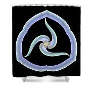 Pale Swirl Shower Curtain